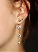 Ear piercing with earrings $35